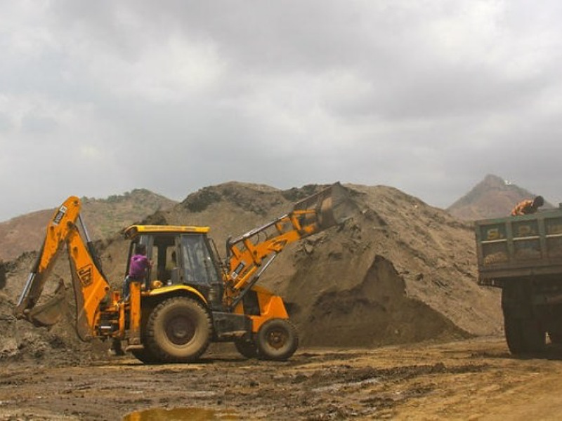 Illegal mining in puthimari River